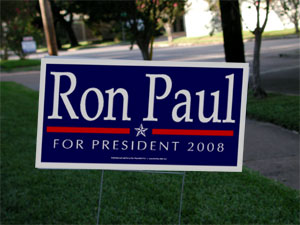 Ron Paul 2008 Yard Sign